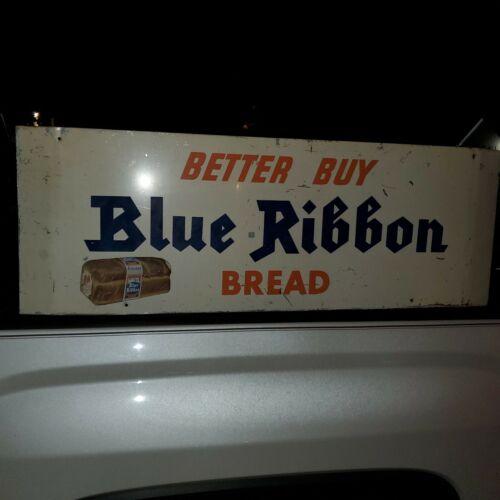 blue ribbon bread sign