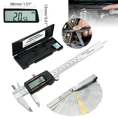 150mm6 Stainless Steel Digital Vernier Caliper Feeler Gauge Measuring Tool