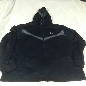 Mens under armour black and grey sweater , zip up,spring  jacket