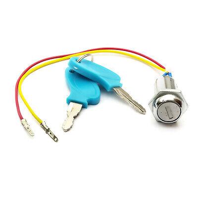 Eléctrico E Moto Scooter Llave Encendido Barril Interruptor Patinete 2 Cable Off