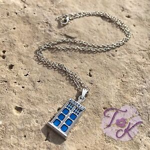 Tardis Necklace, Doctor Who Necklace