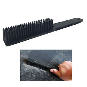 rubber pet hair fur remover car home fabric upholstery carpet seats comb brush ebay. Black Bedroom Furniture Sets. Home Design Ideas