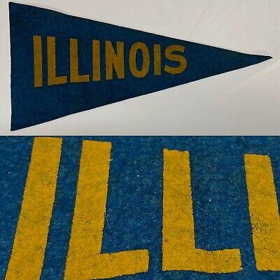 Vintage 50's Illinois Fighting Illini University Big Ten 6x11.5 Mini Pennant Illinois Fighting Illini Pennant