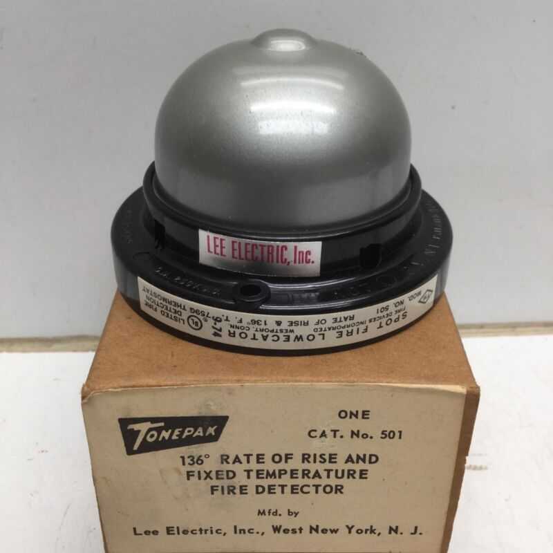 TONEPAK LEE Electric 501 Fixed Temperature Fire Detector, 136F