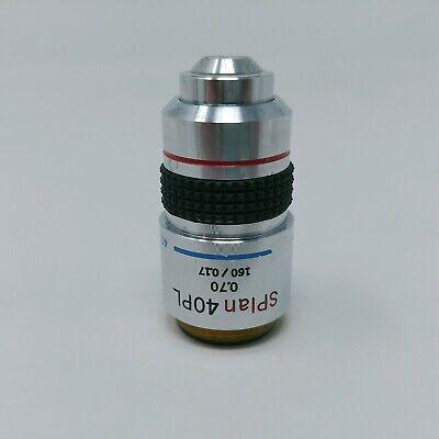 Olympus Microscope Objective Splan 40x Pl 40pl