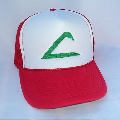 Kid size Pokemon Costume Hat Ash Ketchum Original Trainer Hat Halloween cap