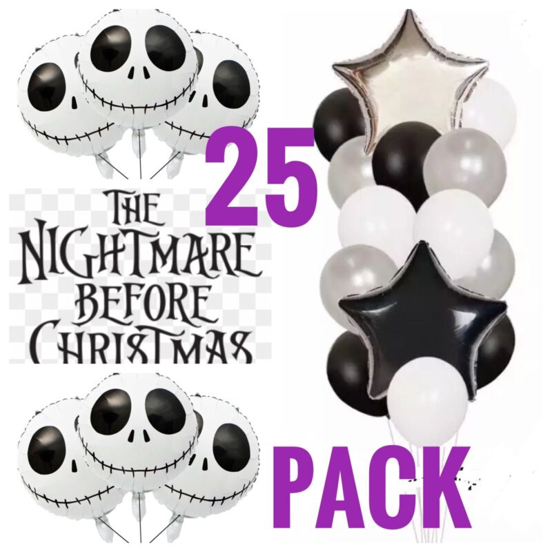 The Nightmare Before Christmas jack skellington Party Balloon pack FREE SHIPPING