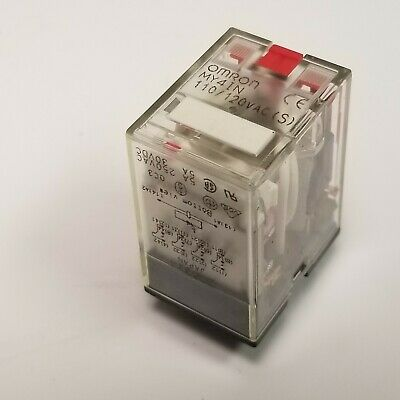 Omron My4in Power Relay 4pdt 120 Vac 5 A My Series Non Latching