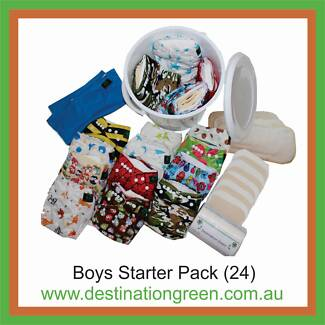 Modern Cloth Nappy Starter Pack including 24 nappies + 48 inserts Beacon Hill Manly Area Preview