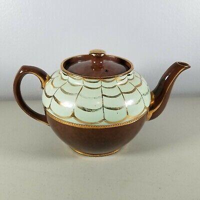 Beautiful Three Toned Tan Light and Dark Brown Vintage Tea Kettle