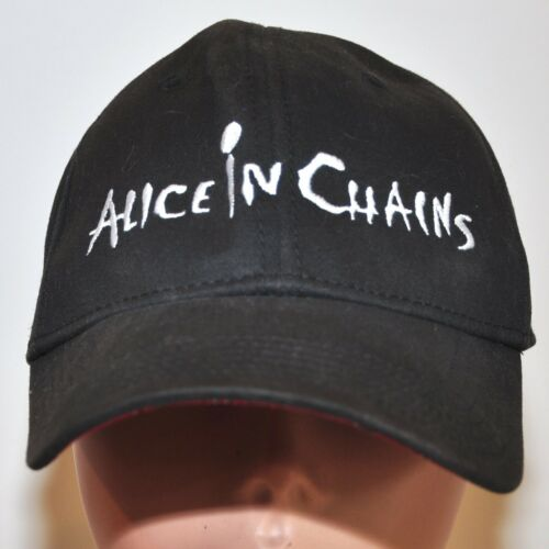 Alice In Chains Hat BC Ethic By PSG Black Red Plaid Inside Embroidered Letters