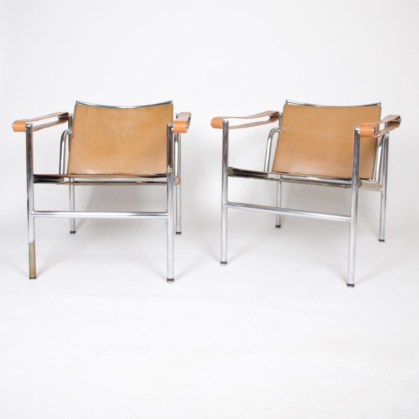 Details About 1950u0027s Authentic Le Corbusier Marked STENDIG LC1 Basculant  Chairs Thonet Cassina