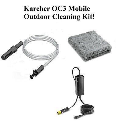 Karcher OC3 Mobile Outdoor Cleaner Complete Kit Suction Hose-Car Adaptor-Cloth