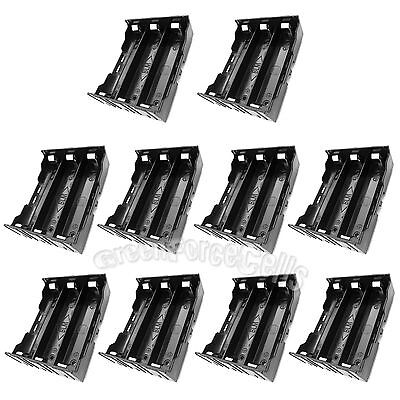 10pcs Plastic Storage Case Holder Box Clip w/ Pin For 3 x 18650 Battery US Stock