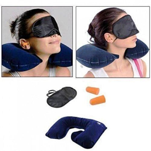 3+in+1+Travel+Selection+Comfort+Neck+Pillow%2CEye+Shade+Mask%2CEar+Plugs%2CMulti+Color
