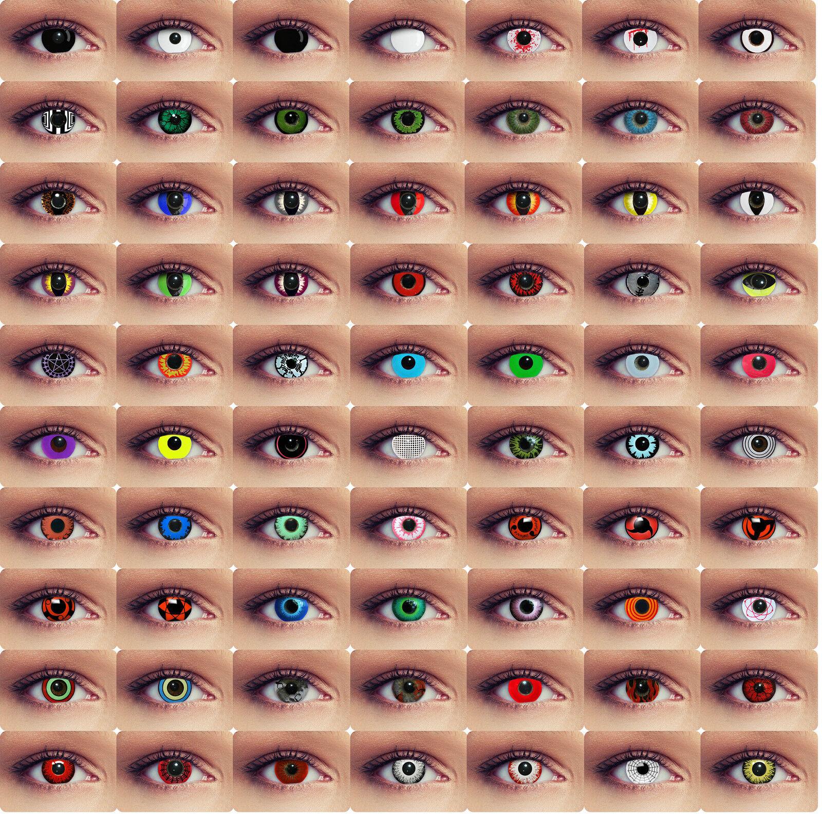 Farbige Kostüm Kontaktlinsen Halloween ohne Stärke rote weiße Vampir Zombie