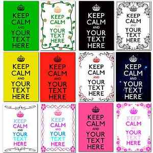 Large A4 Personalised Keep Calm and