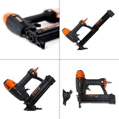 18 Gauge Air Nailer Stapler Adjustable Trim Molding Brad Portable Work -