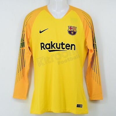 a4ab96d3e 2018-19 Barcelone Player Issue Gk L S T-Shirt Jaune Nike BNWT L Maillot