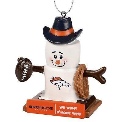 Denver Broncos NFL Thematic Smores Resin Holiday Ornament