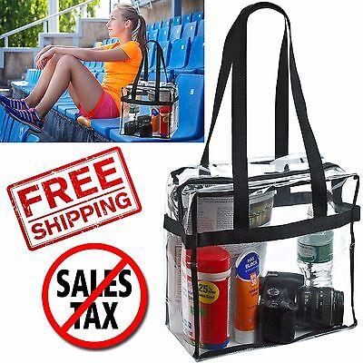 Clear Tote Bag Transparent Backpack Purse Shoulder Handbag NFL Stadium Approved