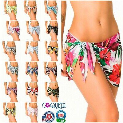 Coqueta Bikini Cover Up SARONG Hawaiian Women's Pareo BOHEMIA Floral print SEXY Floral Print Pareo