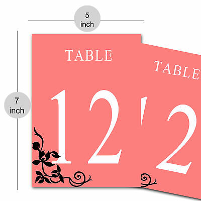 Paper Table Number Card for Restaurants Cafes Reserved Table Décor Wedding Gift (Reserved Cards For Tables)