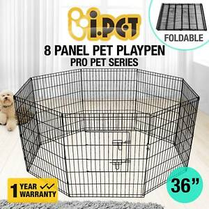 8 Panel Pet Playpen Portable Exercise Cage Fence Dog New