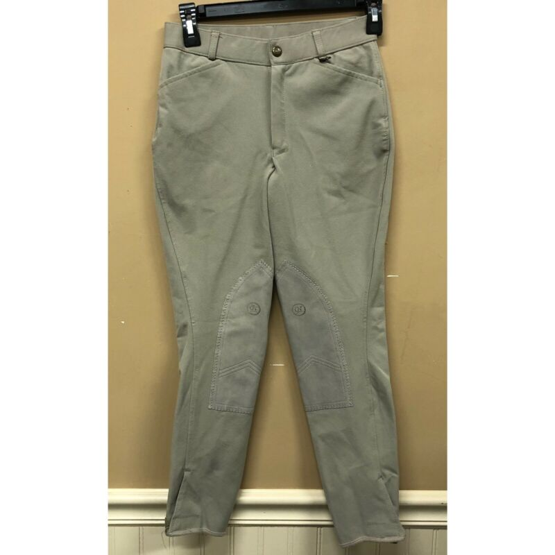Ovation Knee Patch Breeches Beige Kids Youth Size 16