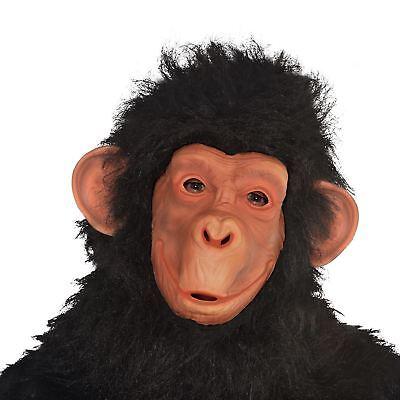 Adults Chimp Monkey Ape Full Face Mask Realistic Zoo Jungle Animal Fancy Dress  ()