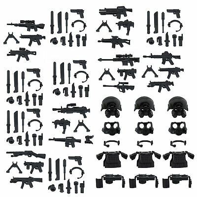 Custom SWAT Police Military Armor Guns Weapons Pack for Lego Accessories Set