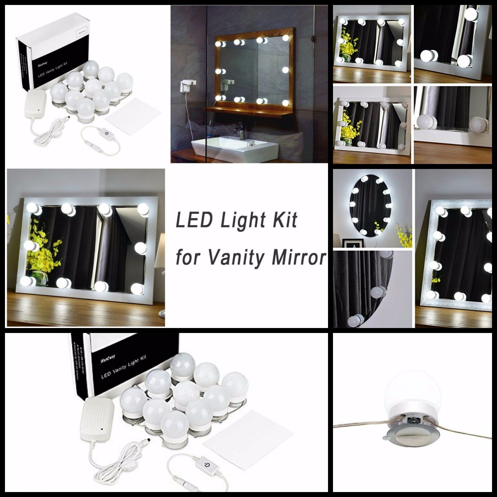 LED Vanity Mirror Lights Kit For Makeup Dressing Table With