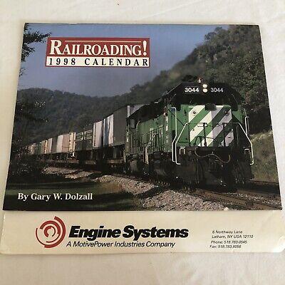 1998 Railroading Calendar By Gary W. Dolzall Engine Systems