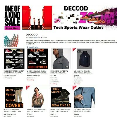 Established Ebay Business - Sports Clothing Store Deccod.com For Sale