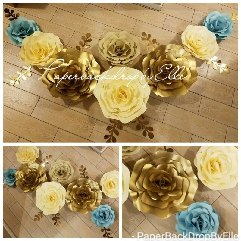 8 LARGE Paper flowers backdrop♡NEW PRICE $67 Flower Wall