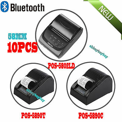 58mm Wireless Bluetooth Usb Thermal Receipt Printer Line Mobile Pos Lot Max To