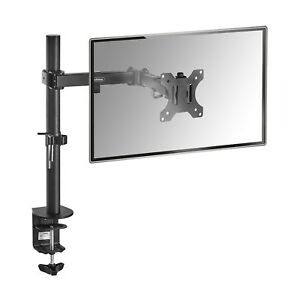 "VonHaus Single Arm LCD LED Monitor Desk Stand Mount for 13""-32"" Screens"
