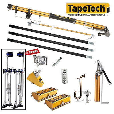 Tapetech Full Set Of Automatic Drywall Taping And Finishing Tools Wfree Stilts