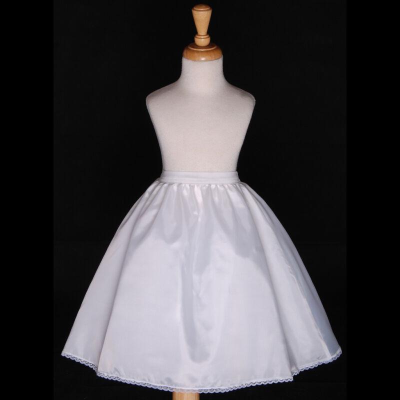 FREESHIPPING WEDDING FLOWER GIRL DRESS PETTICOAT SLIP UNDERSKIRT CRINOLINE S M L