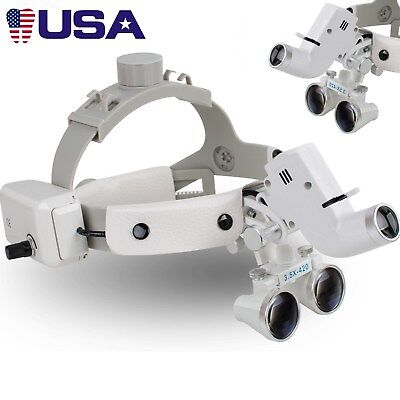Dental 3.5x Binocular Loupes Surgical Glasses Magnifier Led Headlight 280-380mm