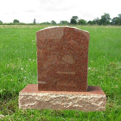 Headstone India Red Granite Gravemarker Monument Tombstone Stone MN-254