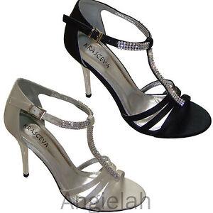 New-Ladies-Satin-or-PU-Bridal-Wedding-Tbar-Heels-Shoes