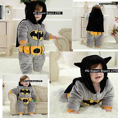 Batman Costume Carnevale Calda Tuta Bambino Boy Costume Baby Onesie BATBABY01