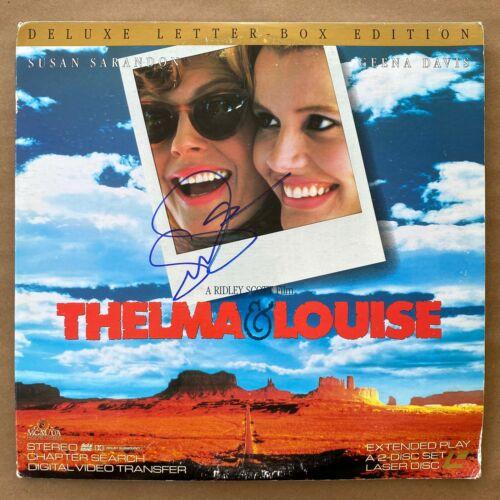 Susan Sarandon Signed Thelma & Louise Gatefold Laserdisc Cover Autograph Rare
