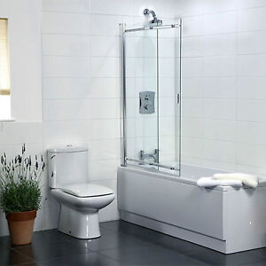 2 panel sliding bath shower screen aquarius 820mm 2 panel sliding over bath screen q4 01036