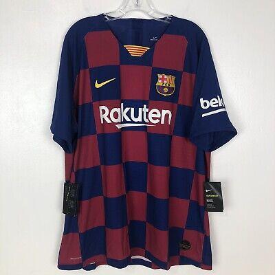 Nike Mens 2019/20 FC Barcelona Jersey $165 Vapor Match Home Soccer AJ5257-456
