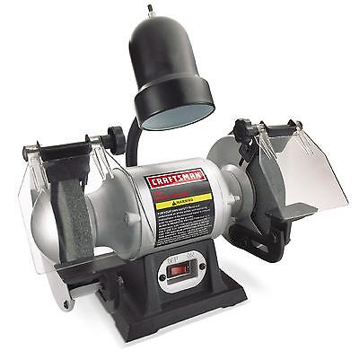"Craftsman 1/6 hp 6"" Bench Grinder with Lamp (21124) Free Shippin"