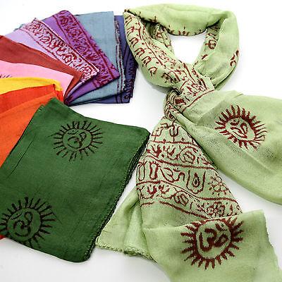 Schal Benares Mantra Tuch Ram Nam-Lunghi 130 x 60  Indien Goa Hippie Bollywood S