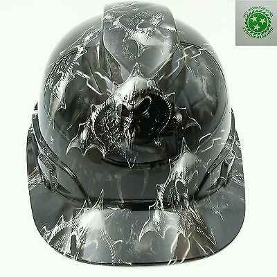 Hard Hat Custom Hydro Dipped Osha Approved Hell Raiser Skulls New