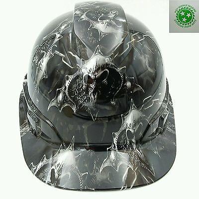 Hard Hat Custom Hydro Dipped Osha Approved Hell Raiser Skulls New